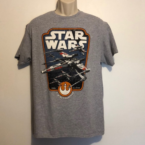 Star Wars V Fifth Sun Men's Large Gray T-Shirt